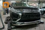 Защита переднего бампера (одинарная, D60) для Mitsubishi Outlander 2015+ (Can-Otomotiv, MIOL.33.2068)