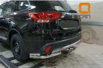 Защита заднего бампера (уголки, D60/42) для Mitsubishi Outlander 2015+ (Can-Otomotiv, MIOL.53.2049)