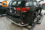 Защита заднего бампера (одинарная, D60) для Mitsubishi Outlander 2015+ (Can-Otomotiv, MIOL.55.2067)