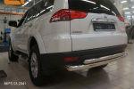 Защита заднего бампера (двойная, D76/60) для Mitsubishi Pajero Sport  2008-2016 (Can-Otomotiv, MIPS.53.2041)