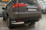 Защита заднего бампера (уголки, D76/42) для Mitsubishi Pajero Sport  2008-2016 (Can-Otomotiv, MIPS.53.2043)