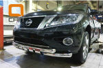 Защита переднего бампера (Shark, D76) для Nissan Pathfinder 2014+ (Can-Otomotiv, NIPA.33.4051)