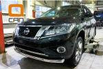 Защита переднего бампера (одинарная, D76) для Nissan Pathfinder 2014+ (Can-Otomotiv, NIPA.33.4053)