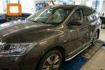 Боковые пороги (с листом) для Nissan Pathfinder 2014+ (Can-Otomotive, NIPA.45.4055)