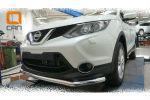 Защита переднего бампера (одинарная, D60) для Nissan Qashqai 2014+ (Can-Otomotiv, NIQA.33.2080)
