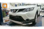 Защита переднего бампера (двойная, D60) для Nissan Qashqai 2014+ (Can-Otomotiv, NIQA.33.2081)