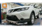 Защита переднего бампера (Shark, D60) для Nissan Qashqai 2014+ (Can-Otomotiv, NIQA.33.2082)