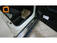 Боковые пороги (с листом) для Nissan Qashqai 2014+ (Can-Otomotive, NIQA.45.2084)