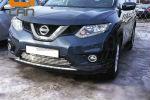Решетка переднего бампера для Nissan X-Trail 2014+ (Can-Otomotiv, NIXT.27.2181)