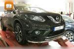 Защита переднего бампера (двойная, D60/42) для Nissan X-Trail 2014+ (Can-Otomotiv, NIXT.33.2289)