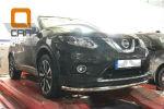 Защита переднего бампера (одинарная, D60) для Nissan X-Trail 2014+ (Can-Otomotiv, NIXT.33.2293)