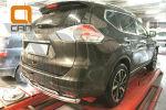 Защита заднего бампера (двойная, D60/42) для Nissan X-Trail 2014+ (Can-Otomotiv, NIXT.57.2167)