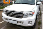 Решетка переднего бампера для Toyota Land Cruiser 200 2012-2015 (Can-Otomotiv, TOC2.27.3381)