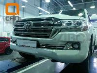 Решетка переднего бампера для Toyota Land Cruiser 200 2015+ (Can-Otomotiv, TOC2.27.3382)
