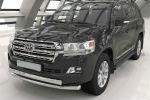 Защита переднего бампера (двойная, D75/42) для Toyota Land Cruiser 200 2012-2015 (Can-Otomotiv, TOC2.33.1203)