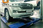 Защита переднего бампера (одинарная, D76) для Toyota Land Cruiser 200 2015+ (Can-Otomotiv, TOC2.33.3375)