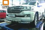 Защита переднего бампера (Shark, D76) для Toyota Land Cruiser 200 2015+ (Can-Otomotiv, TOC2.33.3381)