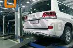 Защита заднего бампера (Shark широкая, D76/42) для Toyota Land Cruiser 200/Lexus LX 2015+ (Can-Otomotiv, TOC2.57.3399)