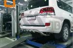 Защита заднего бампера (Shark узкая, D76) для Toyota Land Cruiser 200/Lexus LX 2015+ (Can-Otomotiv, TOC2.57.3403)