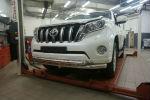 Защита переднего бампера (двойная, D76/60) для Toyota Land Cruiser 150 2013+ (Can-Otomotiv, TOC5.33.3383)