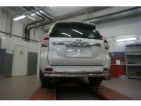 Защита заднего бампера (двойная, D76/60) для Toyota Land Cruiser 150 2009+ (Can-Otomotiv, TOC5.57.3400)