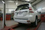 Защита заднего бампера (одинарная, D76) для Toyota Land Cruiser 150 2009+ (Can-Otomotiv, TOC5.57.3401)