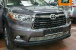 Решетка переднего бампера для Toyota Highlander 2014+ (Can-Otomotiv, TOHI.27.4154)