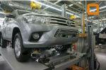 Решетка переднего бампера для Toyota Hilux 2015+ (Can-Otomotiv, TOHI.27.4155)