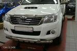 Защита переднего бампера (Shark, D76) для Toyota Hilux 2012-2015 (Can-Otomotiv, TOHI.33.3456)