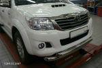 Защита переднего бампера (двойная, D76/60) для Toyota Hilux 2012-2015 (Can-Otomotiv, TOHI.33.3457)