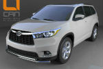 Защита переднего бампера (двойная, D60/42) для Toyota Highlander 2014+ (Can-Otomotiv, TOHI.33.3458)