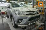Защита переднего бампера (одинарная, D76) для Toyota Hilux 2015+ (Can-Otomotiv, TOHI.33.3461)
