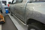Боковые пороги (с листом) для Toyota Hilux 2015+ (Can-Otomotive, TOHI.45.3421)
