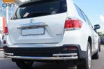 Защита заднего бампера (одинарная с уголками, D60/42) для Toyota Highlander 2010-2013 (Can-Otomotiv, TOHI.53.4151)