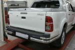 Защита заднего бампера (уголки, D76/42) для Toyota Hilux 2012-2015 (Can-Otomotiv, TOHI.53.4154)