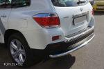 Защита заднего бампера (одинарная, D60) для Toyota Highlander 2010-2013 (Can-Otomotiv, TOHI.55.4152)