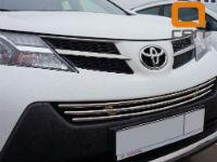Решетка переднего бампера для Toyota RAV4 2013+ (Can-Otomotiv, TOR4.27.3782)