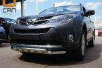Защита переднего бампера (Shark, D60) для Toyota RAV4 2013-2015 (Can-Otomotiv, TOR4.33.3575)