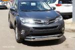 Защита переднего бампера (двойная, D60) для Toyota RAV4 2013-2015 (Can-Otomotiv, TOR4.33.3780)