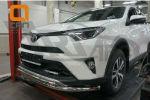 Защита переднего бампера (двойная, D60/42) для Toyota RAV 4 2016+ (Can-Otomotiv, TOR4.33.3782)