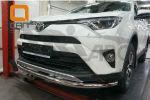 Защита переднего бампера (одинарная, D60) для Toyota RAV 4 2016+ (Can-Otomotiv, TOR4.33.3783)