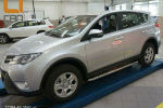 Боковые пороги (с листом) для Toyota RAV4 2013+ (Can-Otomotive, TOR4.45.3561)