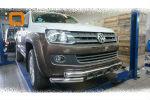 Защита переднего бампера (Shark, D76) для Volkswagen Amarok 2010+ (Can-Otomotiv, VWAM.33.1032)