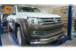 Защита переднего бампера (двойная, D76/60) для Volkswagen Amarok 2010+ (Can-Otomotiv, VWAM.33.1033)
