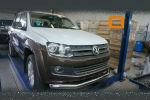 Защита переднего бампера (одинарная, D76) для Volkswagen Amarok 2010+ (Can-Otomotiv, VWAM.33.1034)