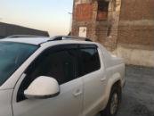 Алюминиевые рейлинги на крышу (skyport) для VW Amarok 2009+ (Erkul, WARRL.06)