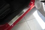 Накладки на внутренние пороги (нерж.) для Honda Accord VIII 2008- (Nata-Niko, P-HO02)