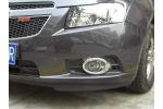 Хромированные накладки противотуманных фар для Chevrolet Cruze 2012+ (Kindle, CCR-L13)