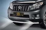 Защита переднего бампера со светодиодными фарами на Toyota Prado FJ150 2010 - (Cobra, TOY1465)