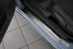 Накладки на внутренние пороги (нерж.) для Honda Civic IX 4D 2012- (Nata-Niko, P-HO12)